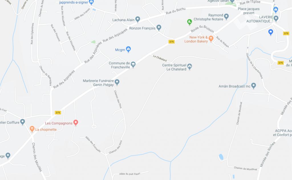 Plan Déviation Travaux Route Du Bruissin